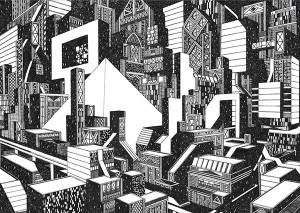Worlds of Details and Skilled Pen Drawings by Tom Radclyffe